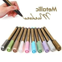 10 Colors Metallic Marker Pen for Ceramic Painting Glass Pla