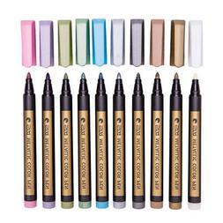 10 Colors Metallic Paint Marker Pen DIY Photo Album Scrapboo