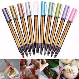 Art Markers Pen Metallic DIY Scrapbooking For Painting Drawi