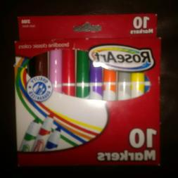 Rose Art 10 Count Washable Classic Colors Broadline Markers
