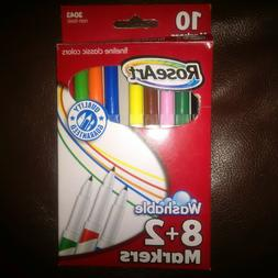 Rose Art 10 Count Washable Classic Colors fineline Markers N