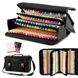 100 Color Set Marker Pen Alcohol Graphic Art Twin Tip Marker