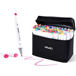 100 Colors Art Markers Set, Ohuhu Dual Tips Coloring Marker