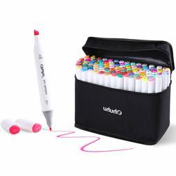 Art Marker Set Ohuhu Dual Tip Coloring Marker Pen For Kid Fi