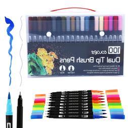 100 Colors Dual <font><b>Brush</b></font> Art <font><b>Marke