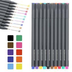 Fineliner Color Pen Set 0.38mm Fine Line Drawing Pen Porous
