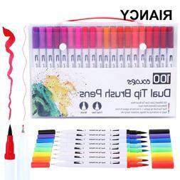 12/18/24/36/48/72/100PCS Colors FineLiner Dual <font><b>Tip<