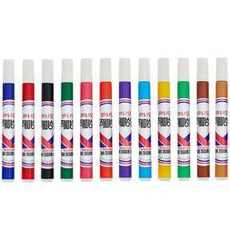 Monami 12 colors Marker Pens  Oil Based Water Resistant Perm