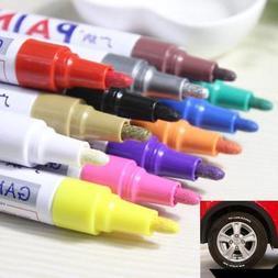 12 Colors Metallic Markers Pens For Car Tyre Tire Paint Art