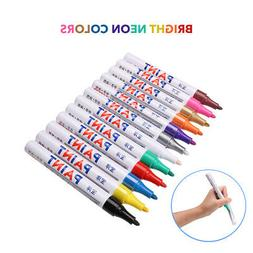 12 Colors Paint Markers Set Oil Based Fine Medium Point Art