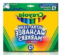 Crayola 12 Ct Ultra-Clean Washable Markers New Color Max , N
