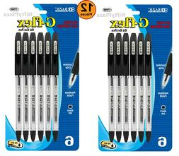 12 pcs G-Flex Black Oil-Gel Ink Pen with Cushion Quality Gri
