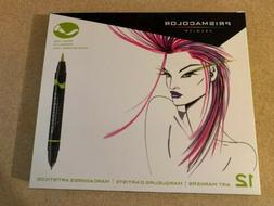 12 Prismacolor Premier Brush Fine Art Markers 1773297