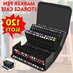 120 Slots Marker Pen Storage Case Carrying Bag Holder Organi