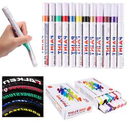 12pcs Colorful Universal Car Pen Paint Markers Tire Permanen