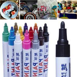 12pcs waterproof permanent paint marker pen