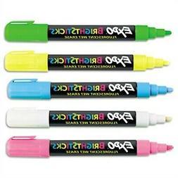 EXPO 14075 - Bright Sticks Wet-Erase Fluorescent Marker Set,