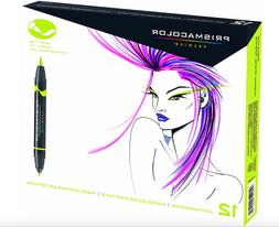 Prismacolor 1773297 Premier Double-Ended Art Markers, Fine &