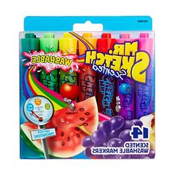 Mr. Sketch 1924061 Washable Scented Markers, Chisel Tip, Ass