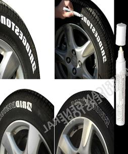 1pc White Paint Pen Marker Waterproof Permanent Car Tire Rub
