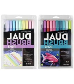 2-Pack COMBO Tombow Dual Tip Brush Pen Art Markers Tropical