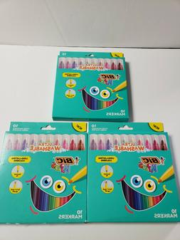2 Packs of 10 BIC Kids Jumbo Washable Coloring Markers- 20 T
