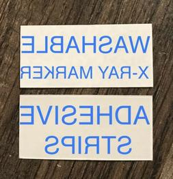 2 Sets X-Ray Marker WASHABLE Adhesive Strips FREE SHIPPING L
