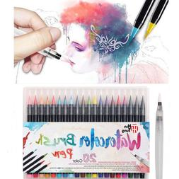 20 Color Soft Watercolor Painting Brush Marker Pen For Color