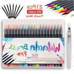 20 colors watercolor drawing painting brush artist
