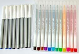 20 x CALLIGRAPHY MARKER PEN SET- 12 FINE WATERBASED COLOURS+