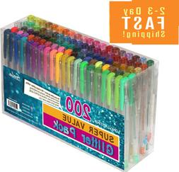 200pack glitter gel pens 100pen plus 100refill
