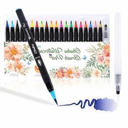 20-Color Pen Set Watercolor Drawing Painting Brush Artist Sk