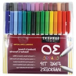Sargent Art 22-1592 30 Count Classic Markers, Fine Conical T