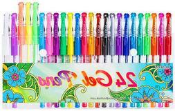 24 Colors Gel Pens Coloring Gel Pen Art Markers For Journal