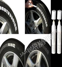 PAINT PEN TWO White Marker Waterproof Permanent Car Tire Let