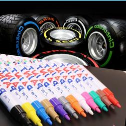 2Pcs Universal Waterproof Permanent Paint Marker Pen Car Tyr