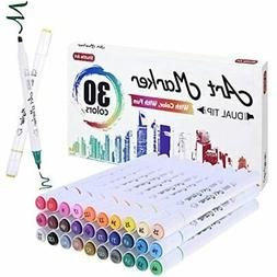30 Colors Dual Tip Alcohol Based Art Markers, Pens Perfect F