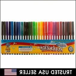 30 pcs - Classic Color Markers Brilliant Assorted Colors Fin