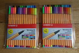 Stabilo 30 Point 88 Fineliner 0.4mm Pens For Fine Writing, D