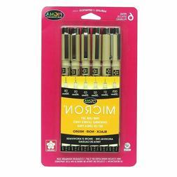 30062 Sakura Pigma Micron Fine Line Marker Pen Set, Black In