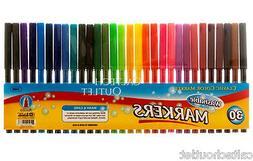 30PC Classic Color Markers Brilliant Assorted Colors Fine Ti