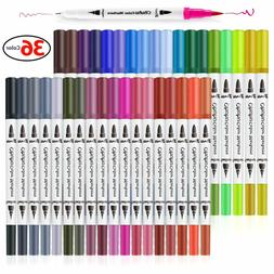 36 Colors Art Markers, Ohuhu Dual Tips Coloring Brush Marker