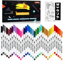 36 Colors Fabric Markers, Shuttle Art Fabric Markers Permane