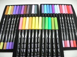 36 Colors set NEW Platinum Dual-Tip waterColor Brush marker