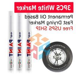 3X White Paint Pen Marker Waterproof Permanent Car Tire Lett