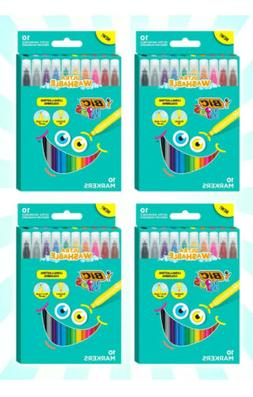 4 BIC Kids Coloring Markers Medium Assorted Colors 40 Washab