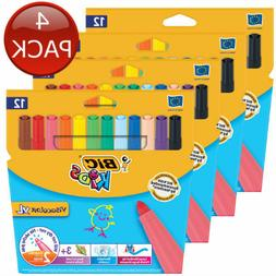 4 x BIC KIDS VISACOLOR XL WASHABLE MARKER ART SCHOOL SKETCH