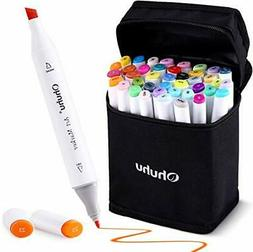 Ohuhu 40-color Alcohol Markers, Dual Tips Permanent Art Mark