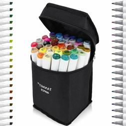 Tanmit 40 Color Dual Tips Art Markers, Permanent Marker High