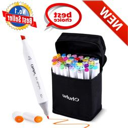 40 Color Dual Tips Permanent Marker Pens Art Markers For Kid